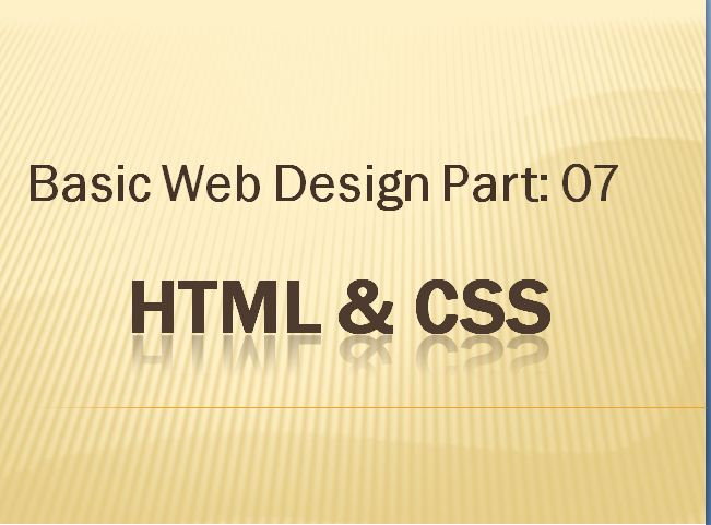 How to learn webdesign