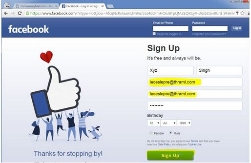 Create FB Account Without Phone Number & EMail