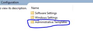 Administrative Templates