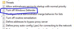 Disable Windows Defender