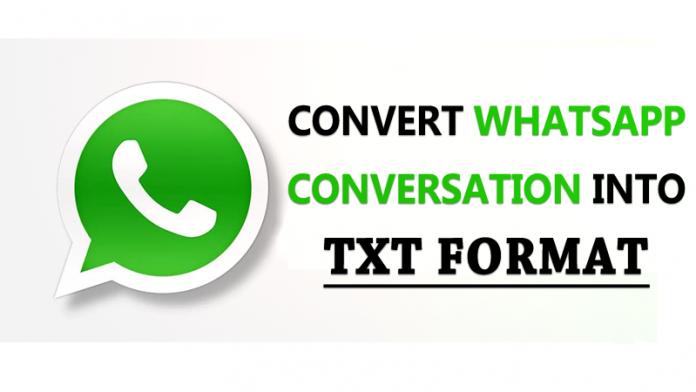 Convert WhatsApp Conversation