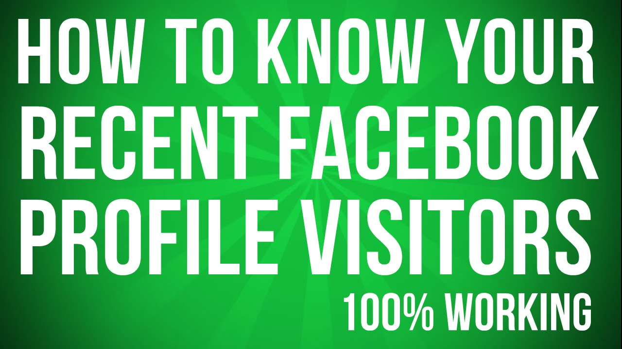 Facebook Profile Visitors