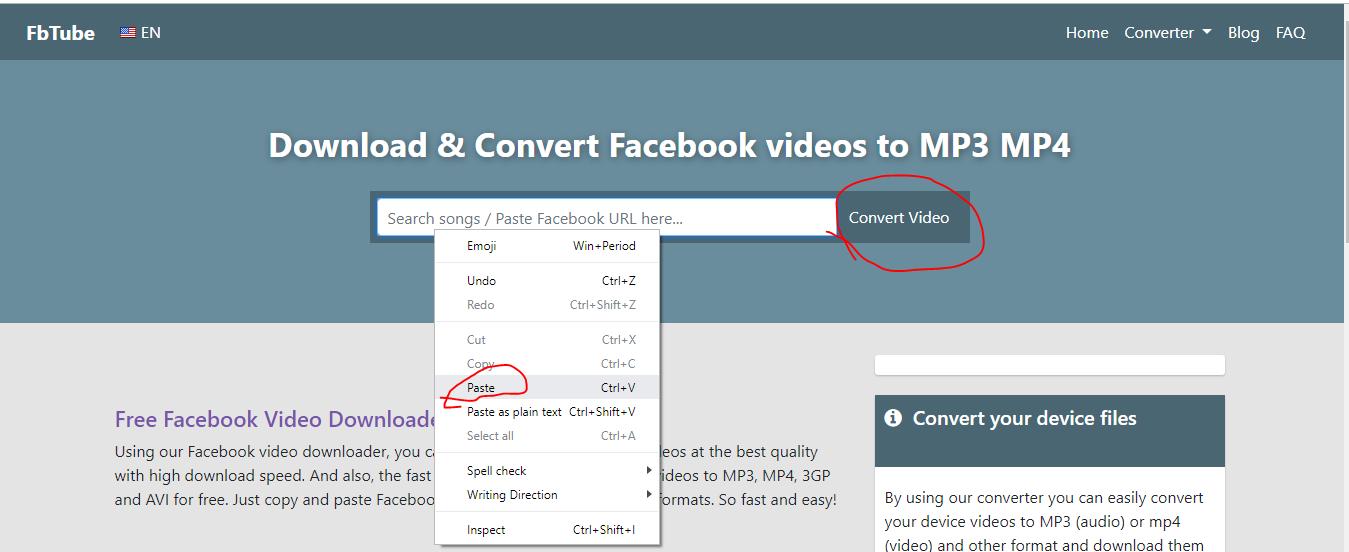 Convard fb video url