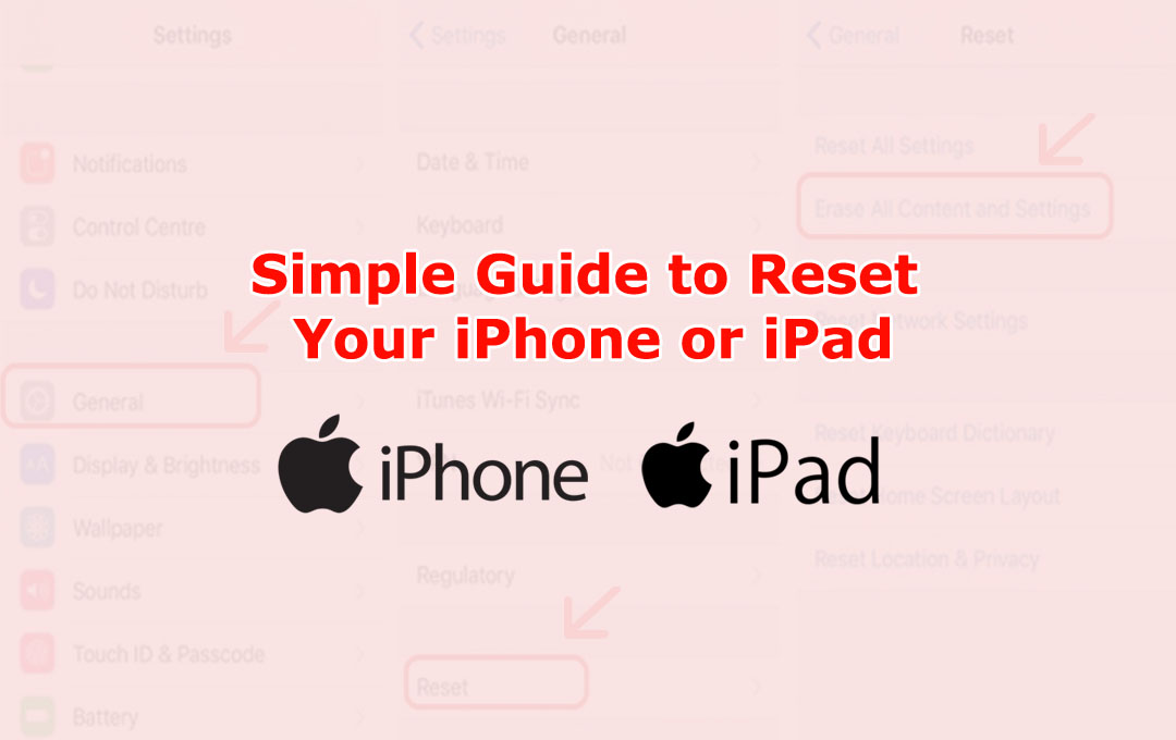 Reset Your iPhone or iPad