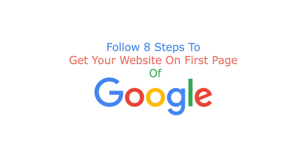 get your website on first page of Google