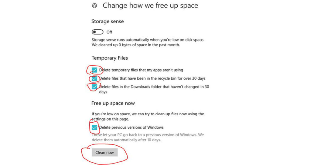 Clear Windows 10 cache and temporary files